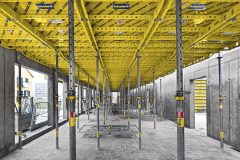 S pomocí prvkového bednění Dokadek 30 je možné zvýšit efektivitu stavby prostřednictvím rychlého obednění stropních desek. Bednění se instaluje bezpečně odspodu, součástí prvků může být i předem instalovaná ochrana volného okraje.