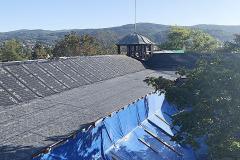 Z průběhu prací na nové střeše