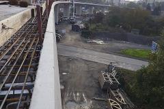 Betonáž pole nad koridorem a přilehlého pole uprostřed estakády probíhala v prosinci 2019