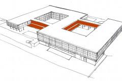 Skica budovy