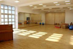 Interiér ZUŠ – baletní sál