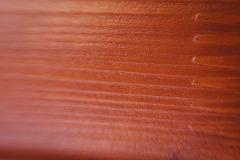Detail výsledku testu na povrchu dřeva s membránou