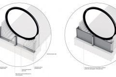 Schéma protipovodňové stěny