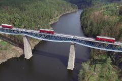 Průběh zatěžovací zkoušky lokomotivami Sergej v dubnu letošního roku