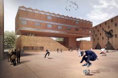 Ve spodní části parteru budovy Centrálních polytechnických dílen se nachází galerie GAMPA, propojená s veřejným prostorem – v amfiteátru lze pořádat akce pod širým nebem
