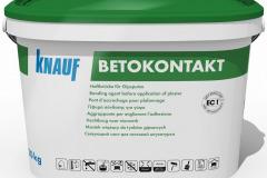 Knauf Betokontakt je speciální základní nátěrová hmota pro zlepšení přilnavosti a snížení savosti podkladu před aplikací sádrových omítek a stěrek. Je určena pro vnitřní použití na betonové podklady. Připravena je k okamžitému použití, stačí pouze promíchat. Teplota zpracování min. 5 °C, spotřeba 0,25–0,35 kg/m2, balení 5 kg, 20 kg.