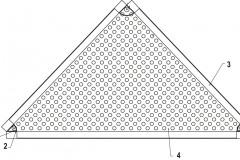 Perforovaná fasáda – kazeta 1 Montážní otvor pro kotvení kazet je součástí perforace plechu 2 Ocelová výztuha 3 Sklopený lem vytvoří kazetu o výšce 60 mm 4 Perforovaný hliníkový plech tl. 2 mm