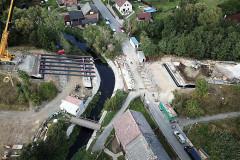 Osazování nosníků ocelové konstrukce Z průběhu betonáže