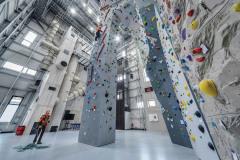 Ve výškové části je horolezecké cvičiště