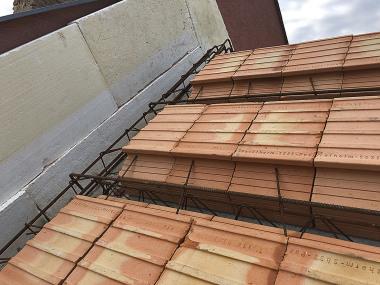 Sedlová střecha před betonáži