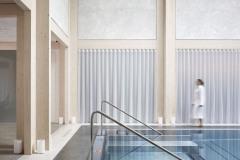Materiály, konstrukce a samotný prostor umocňují účinky ajurvédské medicíny a vytváří oázu klidu, odpočinku a meditace