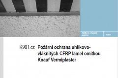 Pro ochranu karbonových lamel Vermiplasterem byl vydán technický list K 901.cz a vystaveno Požárně klasifi kační osvědčení.