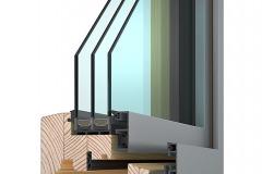 Dřevohliníkové okno VEKRA Alu Design Quadrat