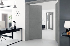 Interiérové dveře FUTURE s unikátní texturou lněné tkaniny